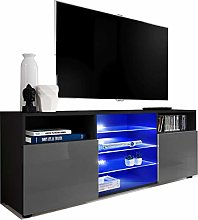 ExtremeFurniture T38 TV Cabinet, Carcass in Black