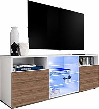 ExtremeFurniture T38 TV Cabinet, Carcass in White