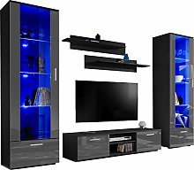 ExtremeFurniture Twins TV Set, Carcass in Black