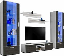 ExtremeFurniture Twins TV Set, Carcass in White
