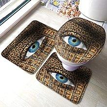 Eye Bathmat,Human Eye with Lizard Animal Skin 3