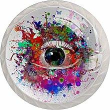 Eye Color 4pcs Glass Cupboard Wardrobe Cabinet