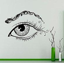 Eyebrows Vinyl Wall Decal Eyelash Makeup Beauty