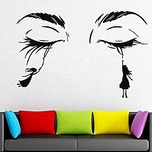 Eyelash Wall Decal Woman Face Eyelash Eyebrow Door