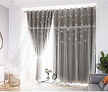 Eyelet Curtain Stars Shading Curtain Drape