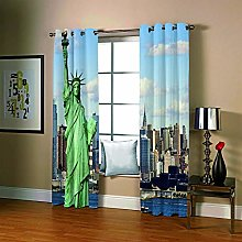 Eyelet Curtains Statue Of Liberty 2 Panels Thermal