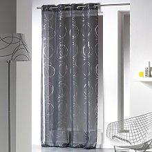 Eyelet Sheer Single Curtain Metro Lane Colour: