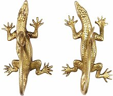"EYES OF INDIA - 8"" Pair Gold Brass Lizard"