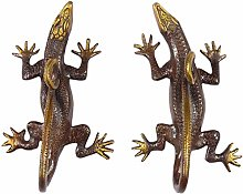 "EYES OF INDIA - 8"" Pair Red Brass Lizard"