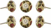 EYES OF INDIA - Set of 6 Brown Yellow Orange