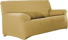 Eysa Sucre Sofa Cover, Polyester, Beige