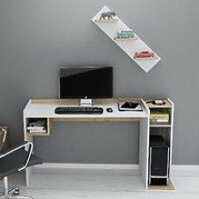 Ezgi Desk with Shelf with Shelves - for Living