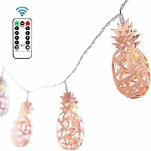 EZICOK 10Ft 20 LED Pineapple Metal String Lights,