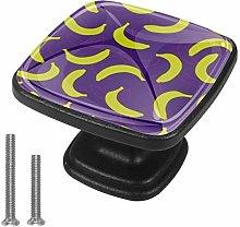 EZIOLY Drawer Knob Pull Handle Banana Double