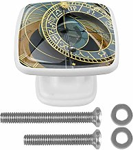 EZIOLY Drawer Knobs Astronomical Clock Prague
