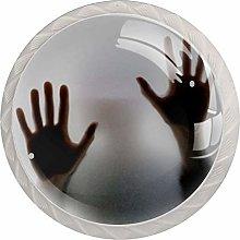 EZIOLY Hands Shadow Kitchen Cabinet Knobs Round