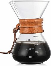 EZIZB Pour Over Coffee Maker Borosilicate Glass