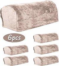 Ezoon Velvet Armrest Covers 6Pcs for Sofa Leather