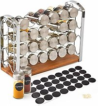 EZOWare 4 Tier Spice Rack Stand Holder with 24