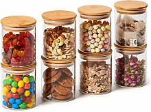 EZOWare Clear Glass Jars Air Tight Canister