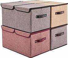 EZOWare Large Storage Boxes [4-Pack] Large Linen
