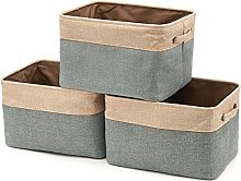EZOWare Set of 3 Collapsible Storage Baskets,