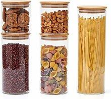 EZOWare Set of 5 Airtight Glass Food Storage