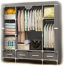 F Canvas Wardrobe Cupboard Clothes Storage