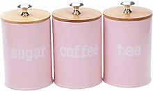 F Fityle 3-Pack Tea Tin Canisters Boxes with