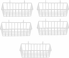 F Fityle 5Pcs Wall Grid Panel Hanging Basket Wall