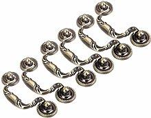 F Fityle 6Pcs Drop Ring Drawer Pulls Vintage