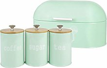 F Fityle Metal Bread Box & 3Pcs Storage Box -