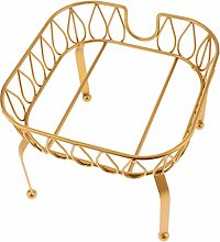 F Fityle Metal Iron Drink Dispenser Stand Basket