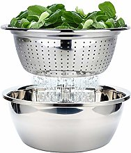 FAB4HOME Colander with Bowl, Stainless Steel