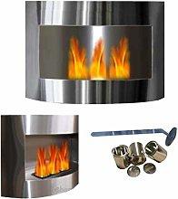 Fabienne bio-ethanol and fuel gel fireplace, made