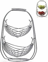 Fablcrew Swinging Fruit Bowl,Hammock Fruit Basket