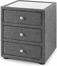 Fabric 3 Drawer Bedside Table, Happy Beds Sorrento