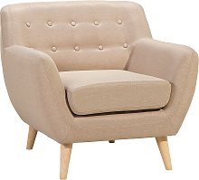 Fabric Armchair Beige MOTALA
