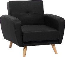 Fabric Armchair Black FLORLI