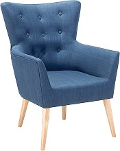 Fabric Armchair Blue ANGEN