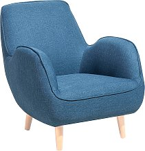 Fabric Armchair Blue KOUKI