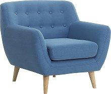 Fabric Armchair Blue MOTALA