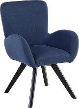 Fabric Armchair Dark Blue BJARN II