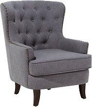Fabric Armchair Dark Grey VIBORG II