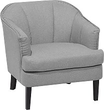 Fabric Armchair Grey ELVERUM