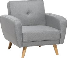 Fabric Armchair Grey FLORLI