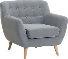 Fabric Armchair Grey MOTALA