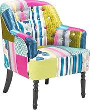 Fabric Armchair Multicolour MANDAL
