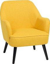 Fabric Armchair Yellow LOKEN