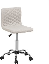 Fabric Armless Desk Chair Beige ORLANDO